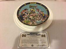 "Danbury Mint Michigan Football Feast C2951 23Kt Gold Plate Gary Patterson 8"""