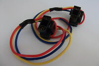 2 x H4 Headlight 3 Pin Replacement Bulb Holder Repair Connector Plug Wire Wiring