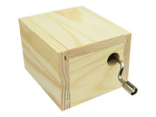 Hand Crank Wooden Music Box with Laputa: Castle in the Sky Tune