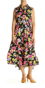 KATE SPADE Black Pink Floral Wildflower Bouquet Dress Size 12 New With Tags