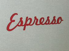 Vintage Style Large ESPRESSO Sign cut Out Coffee Shop Sign