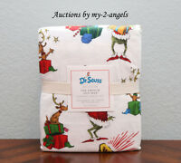 Pottery Barn Kids Dr. Seuss THE GRINCH AND MAX Christmas Flannel Full Sheet Set