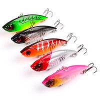 5pcs Fishing lures Hard VIB Minnow Bait Swimbait Sinking Bass Lures Crankbaits
