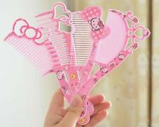 4PC Girl Cute Hello kitty Comb Hair Beauty Heart Crown Bow Hairdressing Massage