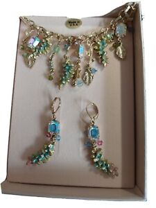 Kirks Folly Wisteria Necklace And Earings Set BNIB