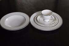 Shinepukur Ceramics - Perfection - Ivory China - Five Piece Set - Platinum - EUC
