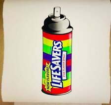 MR CLEVER ART LIFESAVERS CANDY SPRAY CAN street art large print pop art graffiti