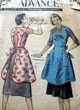 LOVELY VTG 1950s APRON ADVANCE Sewing Pattern MEDIUM