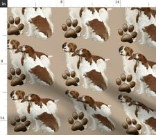Brittany Spaniels Spaniel Dog Pet Paw Dogs Fabric Printed by Spoonflower Bty