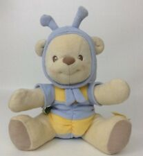 """Winnie The Pooh 10"""" Baby Rattle Bee Bear Plush Stuffed Toy Fisher Price 2003"""