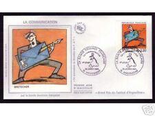 2509- FDC ENVELOPPE 1er JOUR SOIE BANDE DESSI BRETECHER