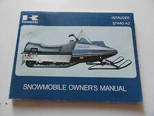 KAWASAKI ST440-A3 SNOWMOBILE 1979 OWNERS MANUAL PT 99974-3507