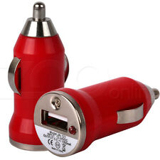 ROSSO Compatto MINI MICRO USB In Caricabatteria Da Auto Adattatore Per Apple iPhone 5 5G Mobile