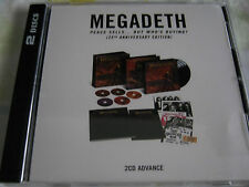MEGADETH PEACE SELLS...BUT WHO'S BUYING PROMO 2 CD US PRESS