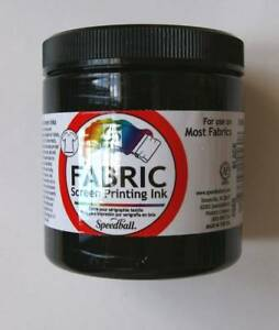 Speedball FABRIC Screen Printing INK 8oz Select Color FSPI8