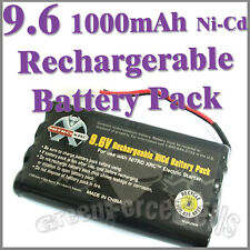 9.6V 1000mAh Ni-Cd Rechargeable Battery Pack For RC Car Tamiya Connector Plug