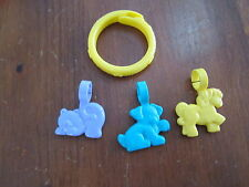 Vintage Little Fisher Price pretty purse vanity make up jewelry bracelet charm