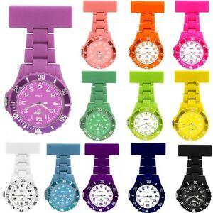 Prince London NY Coloured Rubberised Unisex Style Mens Ladies Nurses Fob Watches