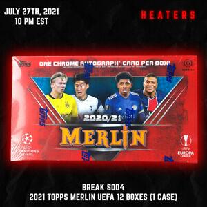 2021 Topps Merlin UEFA 12 Hobby Box Case Break 7/27 10PM EST - Liverpool