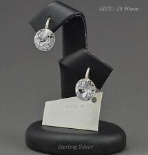 - 925-Argento Orecchini realizzati con cristalli Swarovski 10.50 mm RIVOLI CRYSTAL