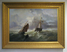 Late 19th Century Maritime oil painting by Paul Ange