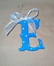 Letter E Monogram Initial Wood Christmas Tree Holiday Ornament homemade
