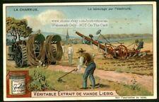 Antique Cable Farm Plow Field Charrue c1903 Trade Ad Card
