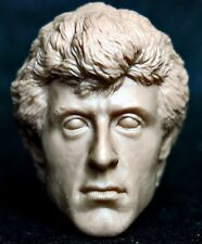1/6 scale resin unpainted action figure head sculpt stallone rocky hot toys 12""