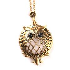 Magnifying Glass Monocal   Vintage Gold Charm,  Owl Long Chain Necklace