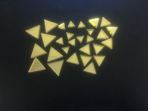 Mirror Art Craft Mosaic Tile Gold Acrylic Triangle