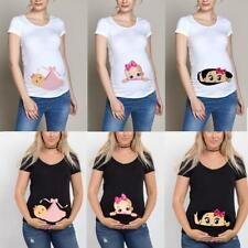 Pregnant Maternity Clothes Funny T-shirt Baby Print Summer Gift For Women Photog