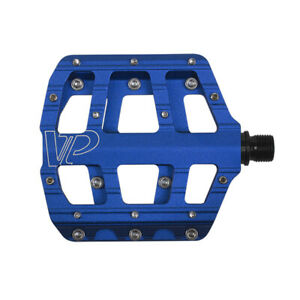 "VP Vice Bike Pedals 9/16"" CNC Aluminum Anti-Slip For Mountain Road Bicycle Blue"