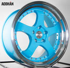 AODHAN AH03 18x9.5 5x114.3 +30 Blue (PAIR) fitments to work on most cars!