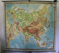 Scheda crocifissi Muro Mappa Map Asia Asia VINTAGE 1950 + Europa Europe 214x204cm