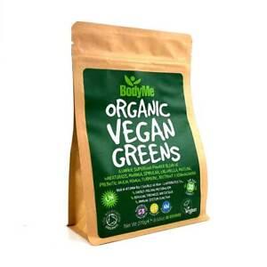BodyMe Organic Vegan Greens Powder   270g   Super Greens Blend   30 Servings