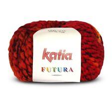 Katia Futura Bulky Wool Blend Yarn 9508 Rust Loom Knit Crochet Free Ship Offer