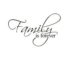 """Removable Vinyl Decal DIY Art Mural Home Quote Wall Sticker """"Family is Forever"""""""