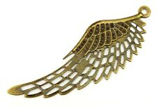 Steampunk Filigree Angel Wing ca. 70mm  antikfarben 1Stk