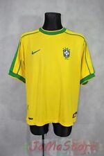 Brazil Home football shirt 1998 - 2000 - NIKE - RARE -  YELLOW _ L