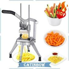 Stainless Steel French Fry Cutter Potato Vegetable Slicer Chopper 38 Blades