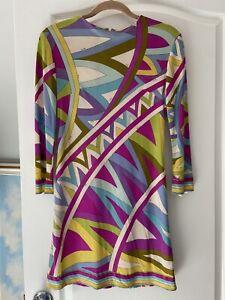 Vintage Emilio Pucci for Saks Fifth Avenue 100% pure silk mini dress SUPER RARE