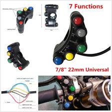 """7/8"""" 22mm 5 Buttons Motorcycles ATV Handlebar Brake Fog Light Horn Switch On/Off"""