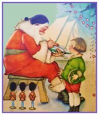 Victorian Father Christmas Santa Claus # 605 Counted Cross Stitch Pattern