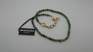 MARIA CRISTINA STERLING bracciale argento 2 GIRI unisex G2559 pietre verdi