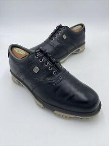 Footjoy Dryjoy Tour Men's 8.5 W Black Croc 53678 Great Condition Retail $239
