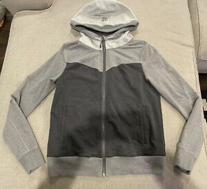 Lululemon Hooded Zip Up Jacket Hoodie Gray Ombre 12 L