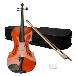 """Natural Color 16"""" Inch Acoustic Viola + Case + Bow + Rosin for Adults"""