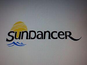 2 Sea Ray Sundancer MARINE VINYL  Decals stickers 24 inch set