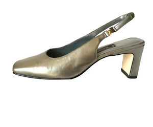 SANDRA LEE Styled In Italy CLASSIC LEATHER SLING BACK HEELS/SHOES SZ 8, RRP$289