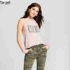 f57100521bae36 Women s Karma Foil Scoop Neck Graphic Tank Top - Grayson Threads Juniors  Pink M